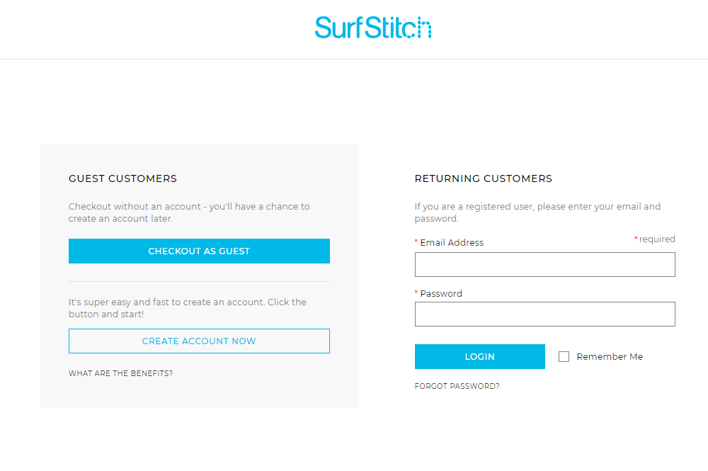 Surf Stitch Checkout Example