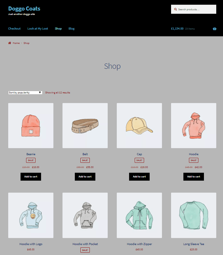 Display Products on Shop Page in WooCommerce