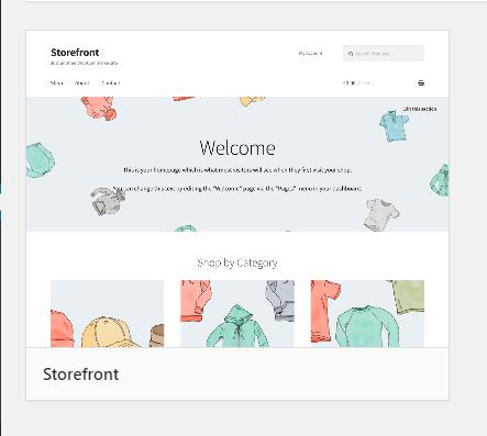 WooCommerce Storefront Theme