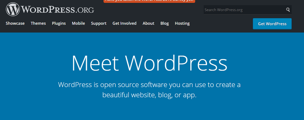 WordPress uses a lot of blue in their site design
