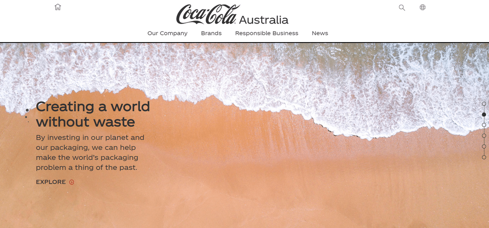 Also Coca-Cola Australia Website