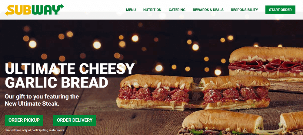 Subway manages to make cheesy garlic bread look a little more healthy