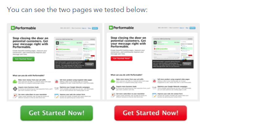 The button test conducted by the HubSpot team