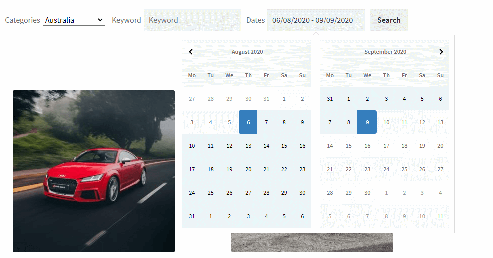Availability Search automatically apply dates WooCommerce Bookings