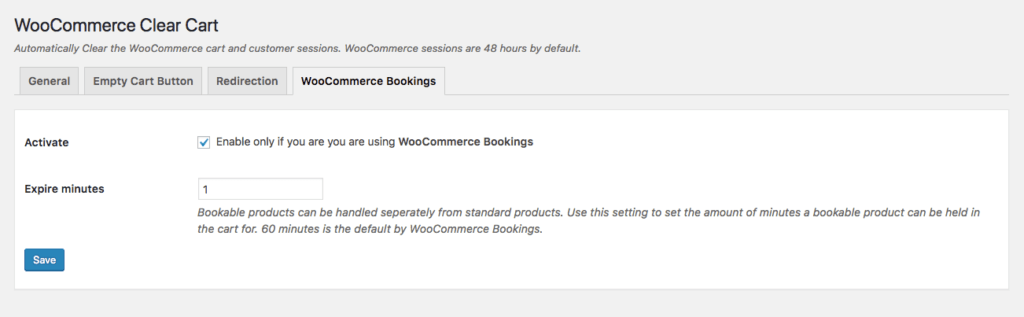 WooCommerce Bookings Clear Cart After Specific Time